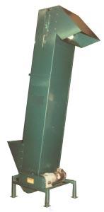 Vertical conveyor trimmed